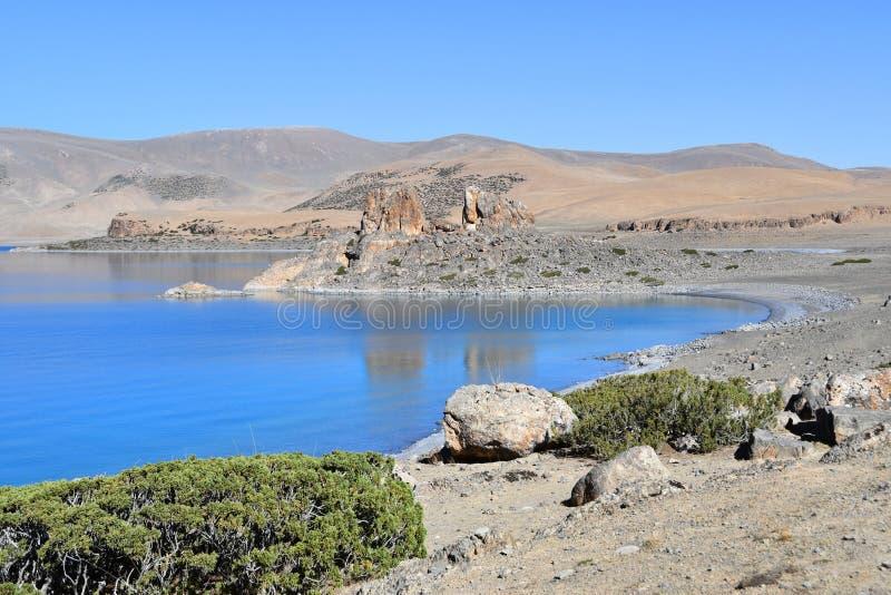 Tibet, lake Nam-Tso Nam Tso in summer, 4718 meters above sea level. Place of power. China, Tibet, lake Nam-Tso Nam Tso in summer, 4718 meters above sea level stock photography