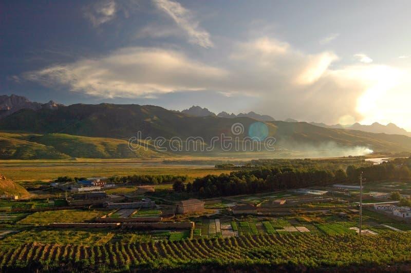 Tibet landscapes stock image