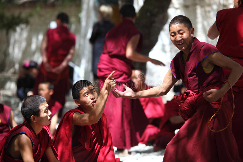 Tibet-Mönch stockbilder