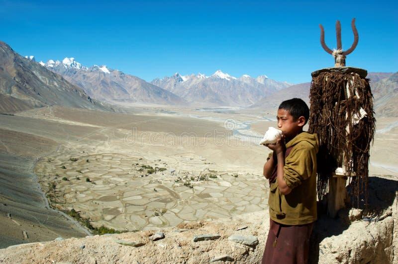Tibet-Mönch lizenzfreie stockfotografie