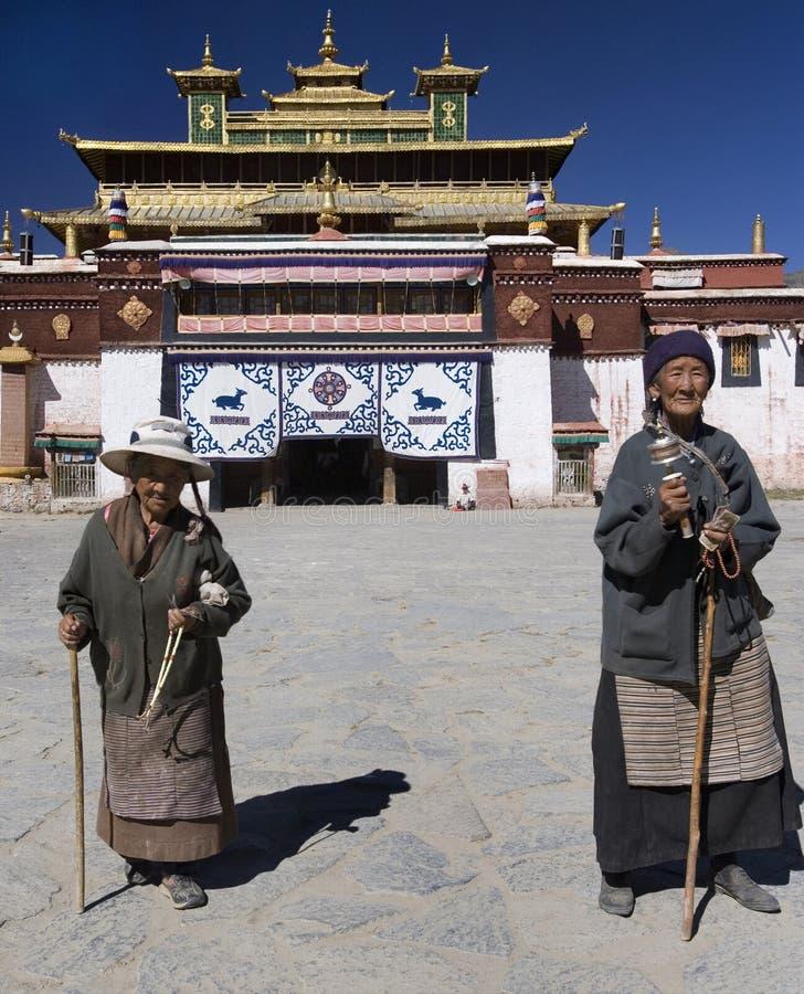 Tibet - monastério de Samye imagens de stock