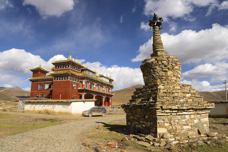 Tibet Pagoda royalty free stock images