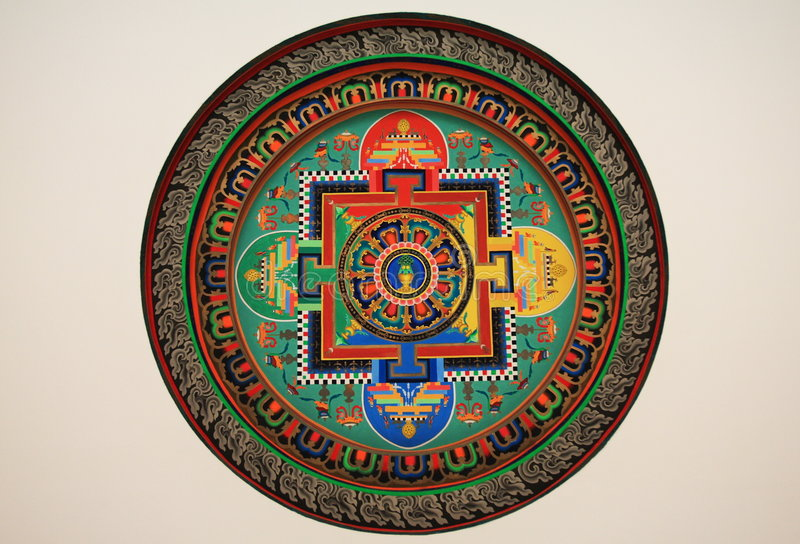 Tibet pattern. Beautiful pattern of traditional tibet culture stock images