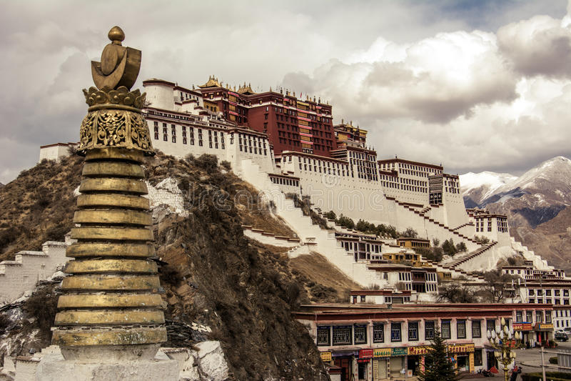 Tibet Potala Palace royalty free stock photos
