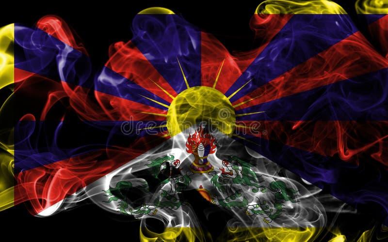Tibet rökflagga, beroende territoriumflagga royaltyfri bild