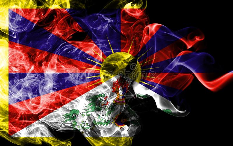 Tibet rökflagga, beroende territoriumflagga stock illustrationer