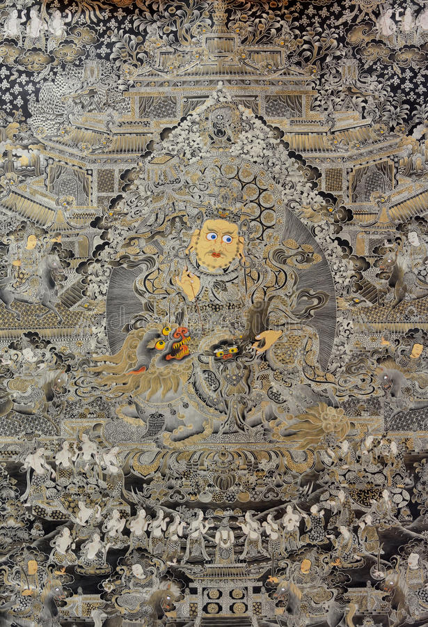 Download Tibet Religion Painting, China Stock Image - Image: 37127085