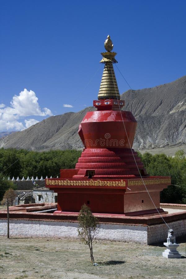 Tibet - Samye Monastry Stupa - Tsetang royalty-vrije stock afbeeldingen