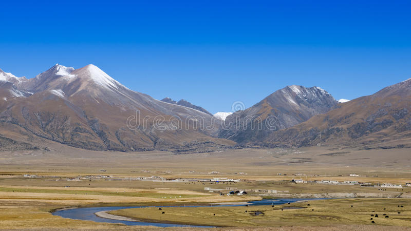 Download Tibet scenery stock photo. Image of outdoors, field, landscape - 26997628
