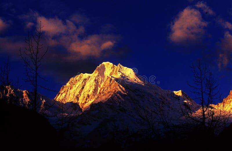 Tibet snow mountain stock image