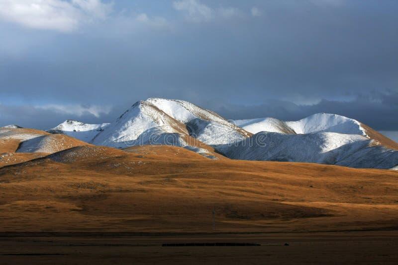 Tibet tableland. The jokul on the tibet tableland royalty free stock photos