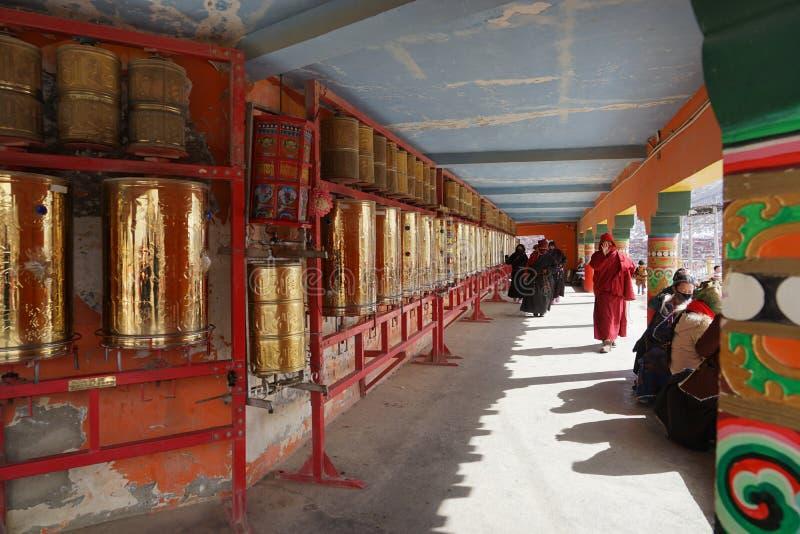 Tibet. Temples lama seda sichuan china stock photo