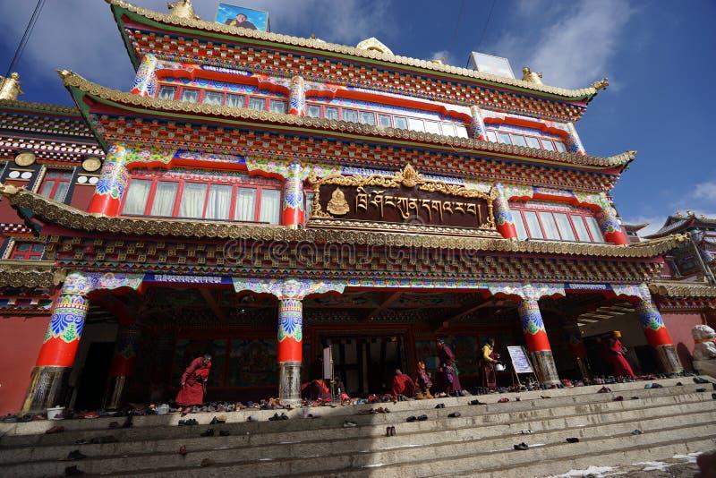 Tibet. Temples lama seda sichuan china stock images