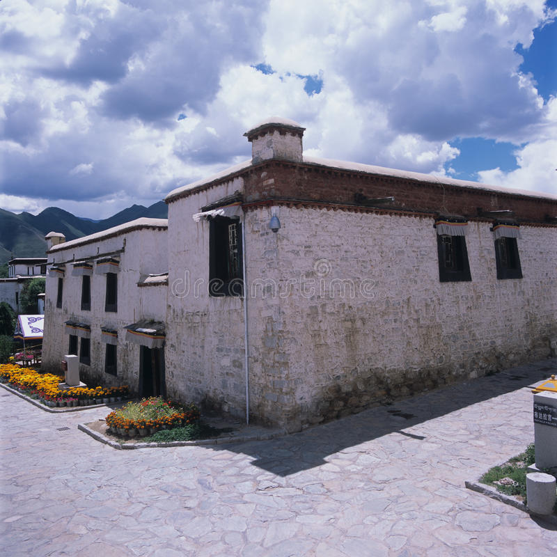 Tibet Village stock images