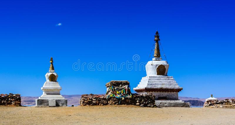Tibet White pagoda stock images