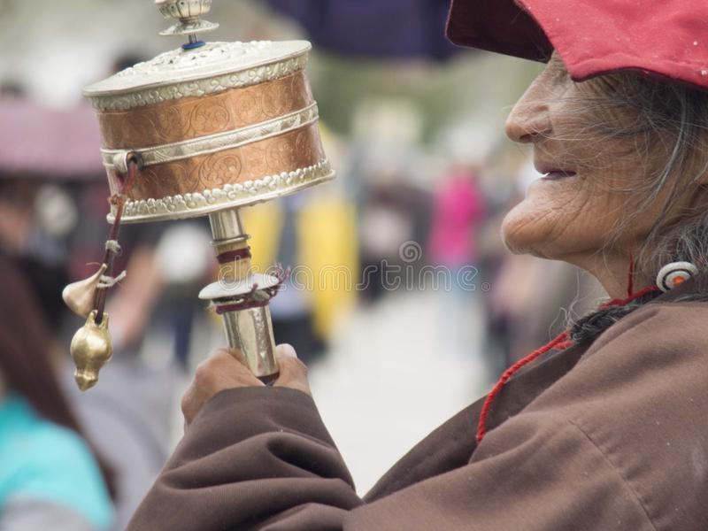 Tibet Woman stock photography