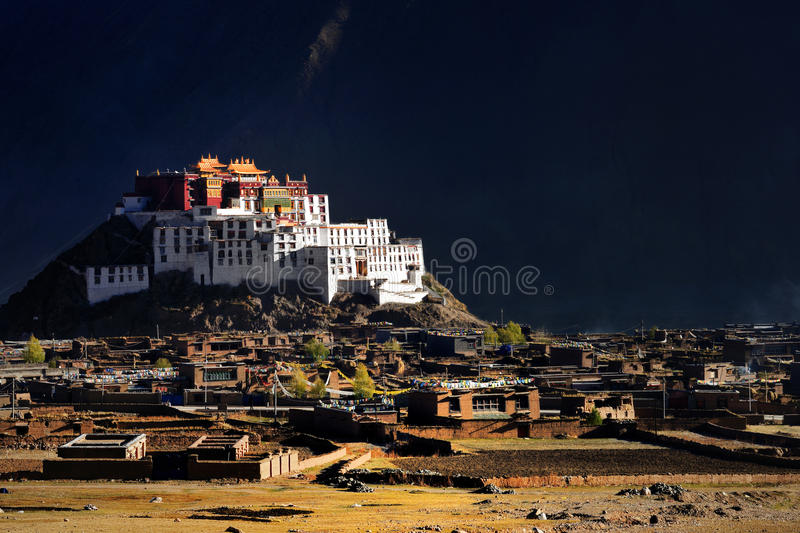 Tibet-ZangDan Temple. This is a famous temple in Tibet - ZangDan Temple royalty free stock photo
