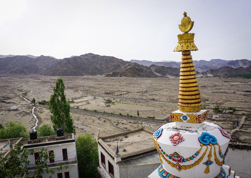 Tibetaans klooster in Ladakh, India royalty-vrije stock afbeeldingen