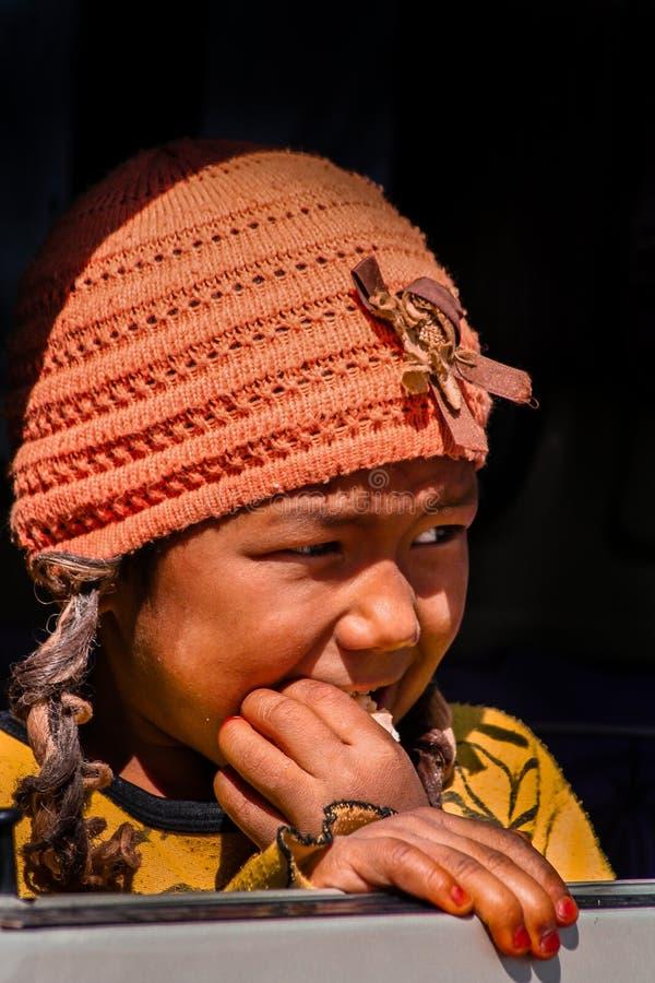 Tibetaans meisje stock afbeeldingen