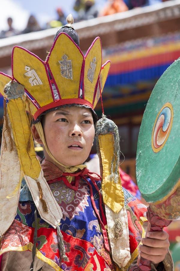 Tibetaanse Boeddhistische lama's in Hemis-klooster, Ladakh, India royalty-vrije stock foto's