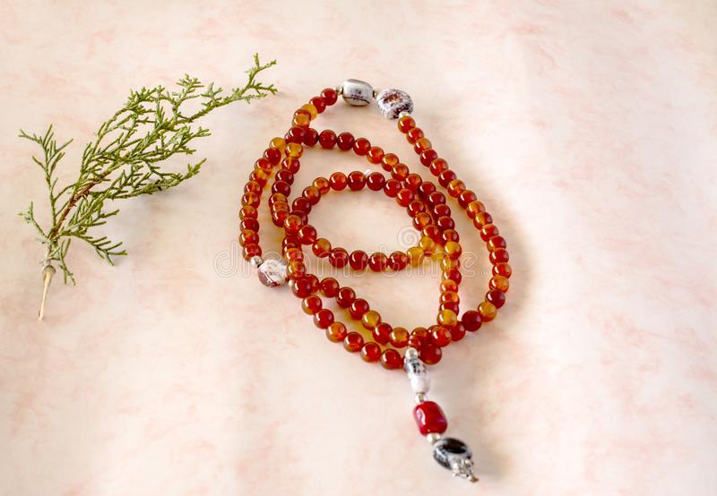 Tibetaanse boeddhistische rosarie royalty-vrije stock afbeeldingen