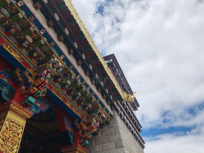 Tibetaanse Culturele Tempel stock afbeelding