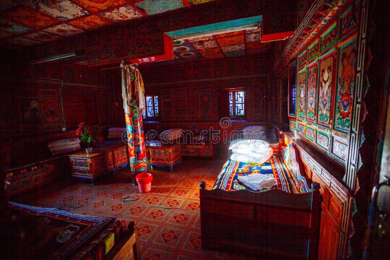 Tibetaanse hotelruimte stock afbeelding