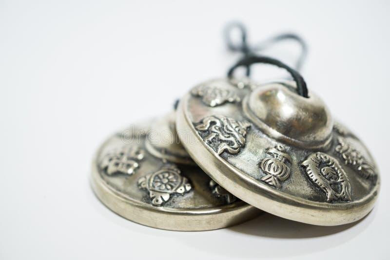 Tibetaanse klankbekkens royalty-vrije stock foto