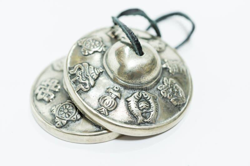 Tibetaanse klankbekkens royalty-vrije stock afbeeldingen