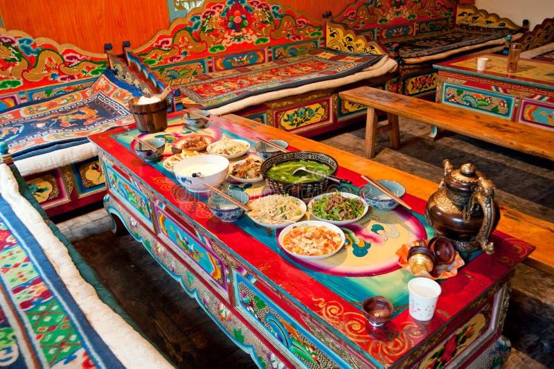 Tibetaanse woonkamer royalty-vrije stock foto