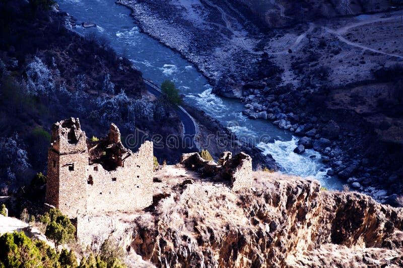 Tibetan ancient castle stock images