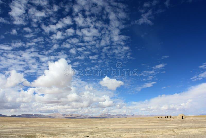 Tibetan autumn sky royalty free stock photography