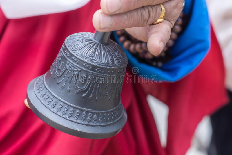 Tibetan bell usually used during religious rituals royalty free stock images
