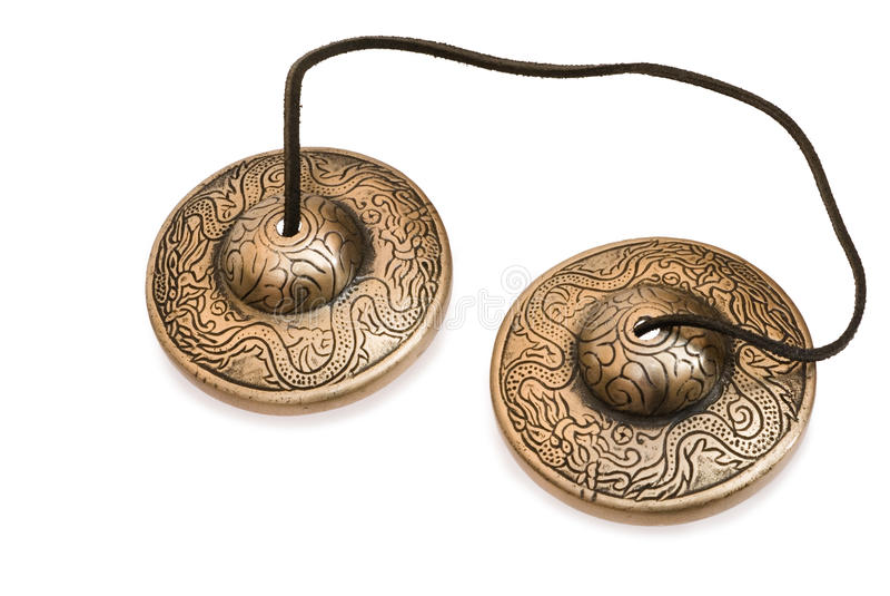 Tibetan bells stock photography