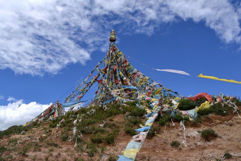 Tibetan Boeddhistische architectuur stock fotografie