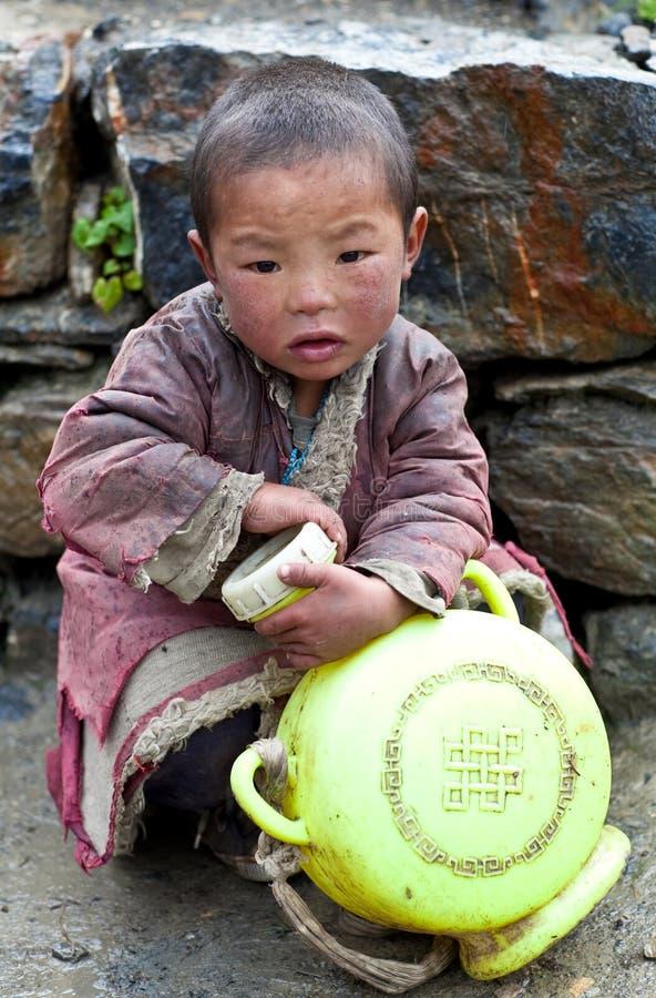 Download Tibetan boy editorial stock photo. Image of dolpa, asiatic - 23789113