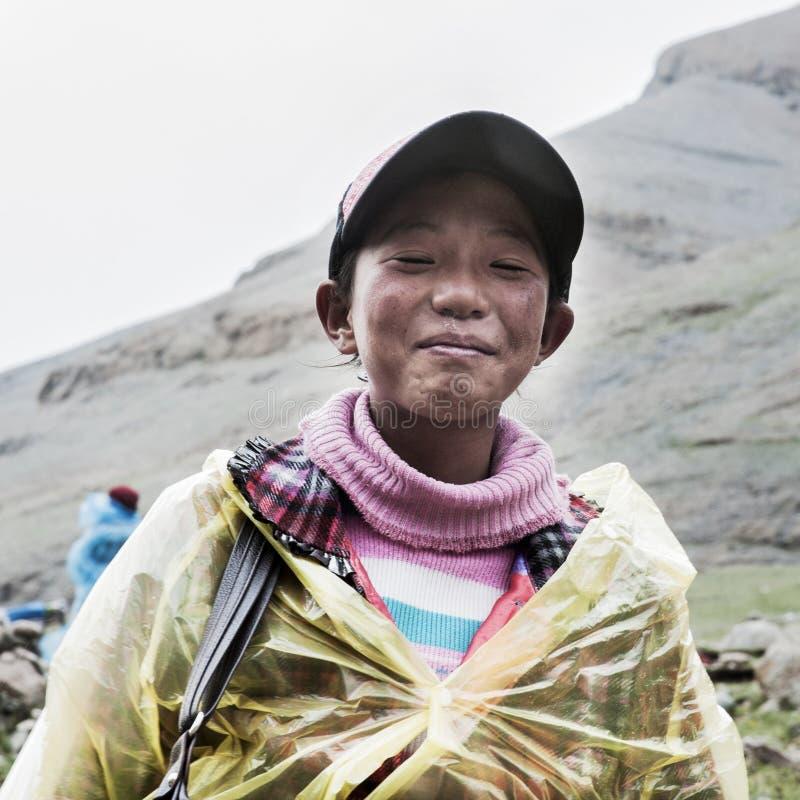 A tibetan boy royalty free stock photo