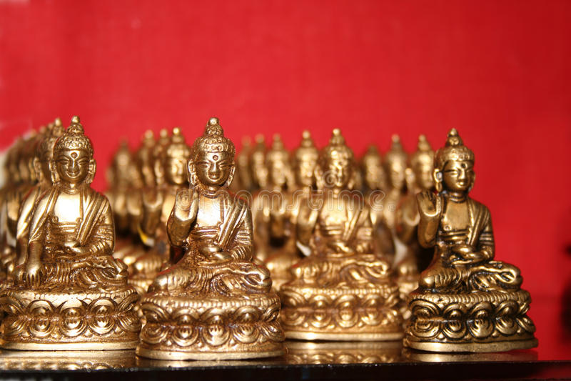 Tibetan Buddha Collection for Prayer stock photography