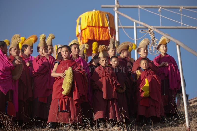 tibetan buddhism arkivbild