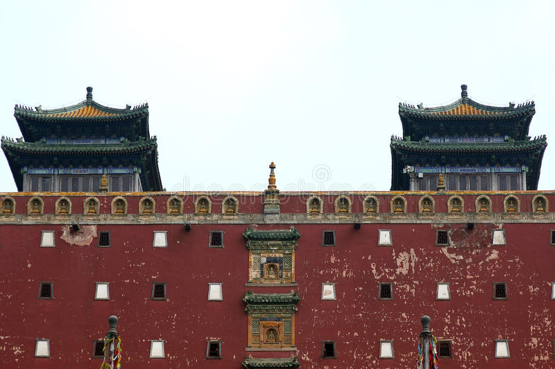Tibetan Buddhist Architecture Stock Photo