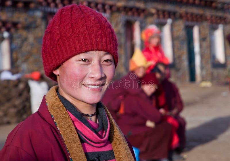 A Tibetan Buddhist Nun royalty free stock photos