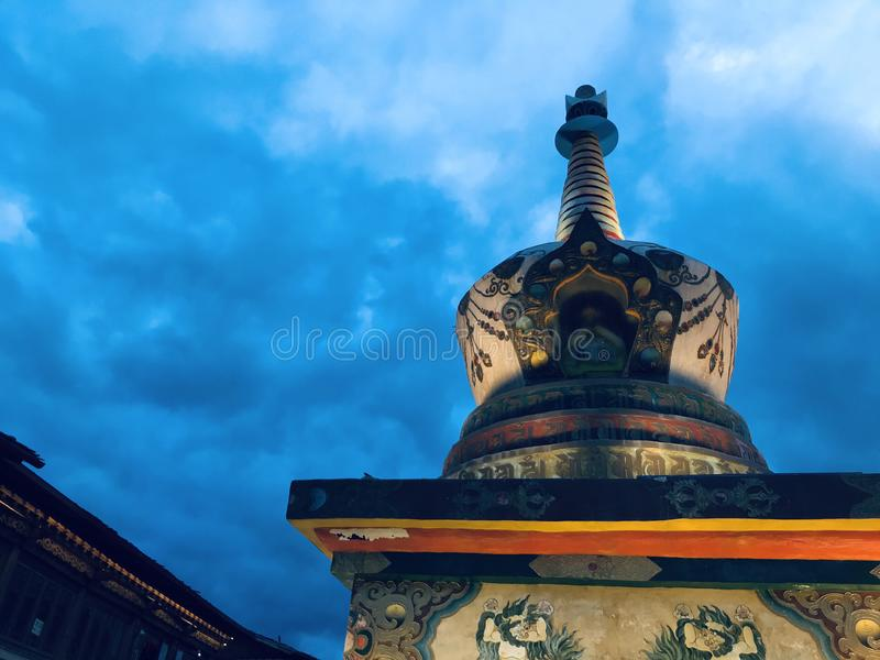 Tibetan buddistisk pagod royaltyfri foto