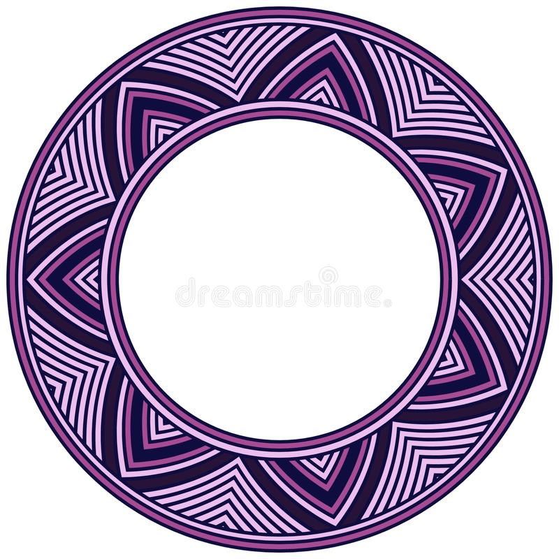 Tibetan circular ornament. Ancient mandala colored royalty free illustration