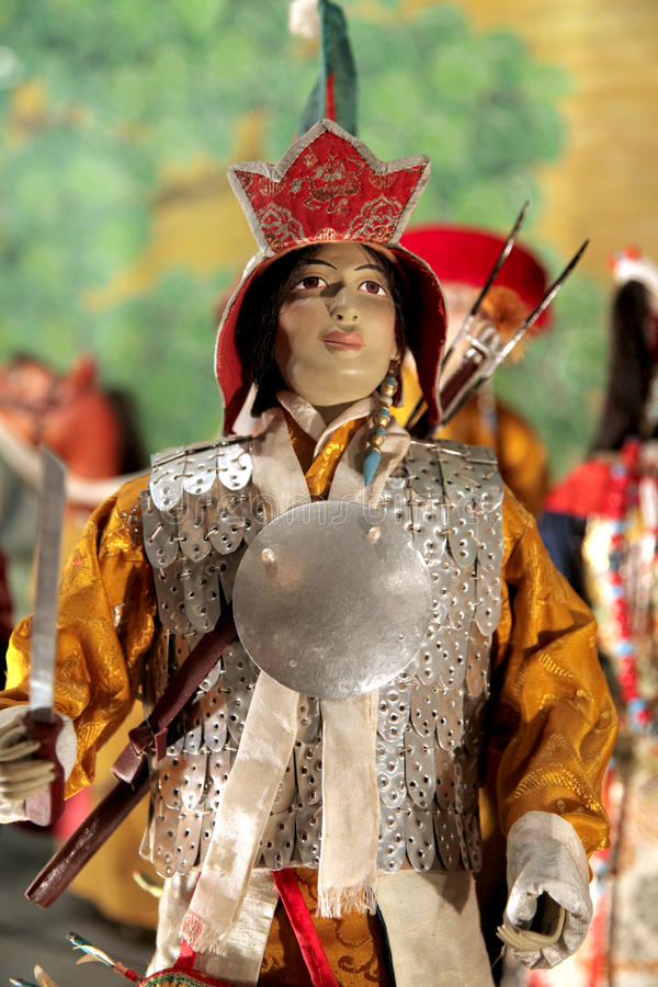 Tibetan doll stock image
