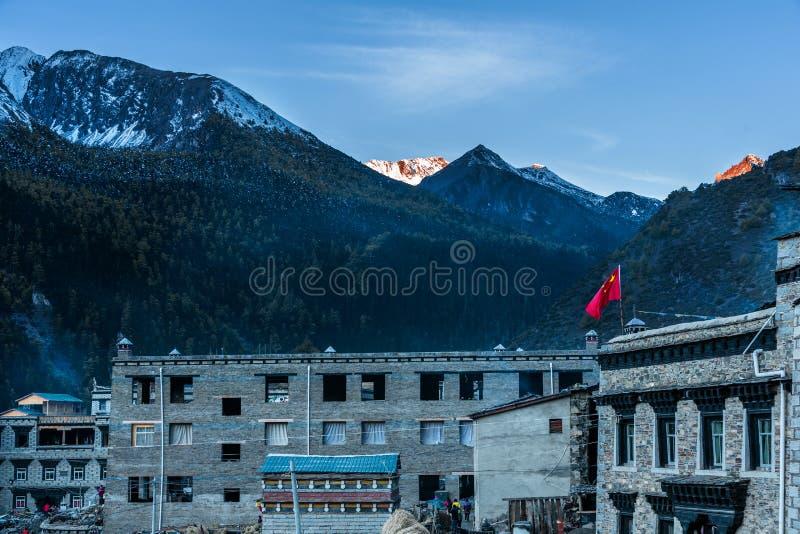 Tibetan style houses royalty free stock image