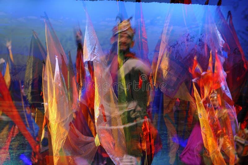 Tibetan ethnic dance royalty free stock photos