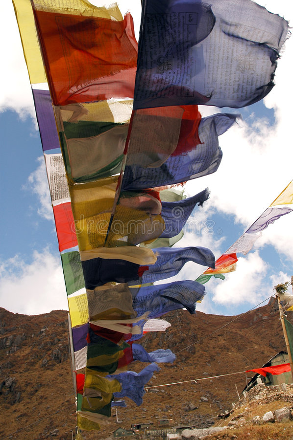 Tibetan flag stock photography
