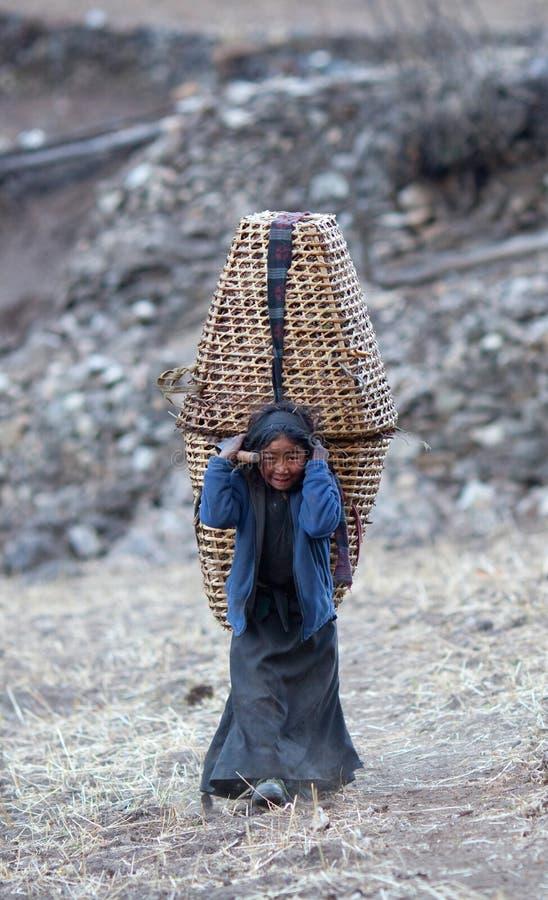 Download Tibetan girl editorial image. Image of dirty, nepal, life - 16457055