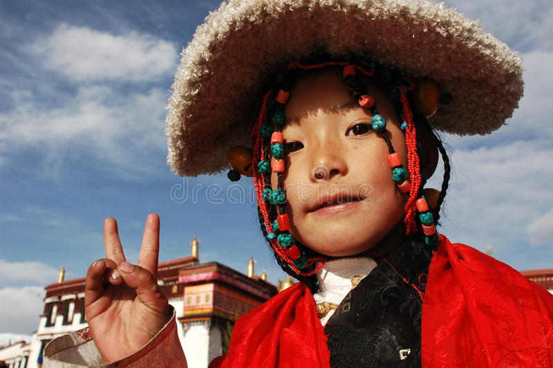 Tibetan girl royalty free stock image