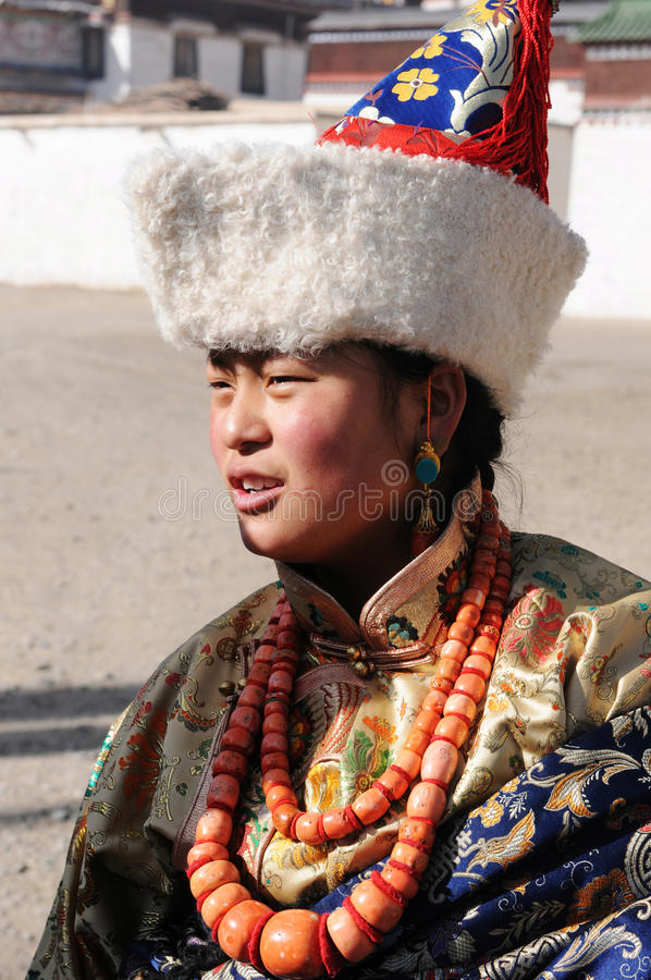 Tibetan girl royalty free stock photos